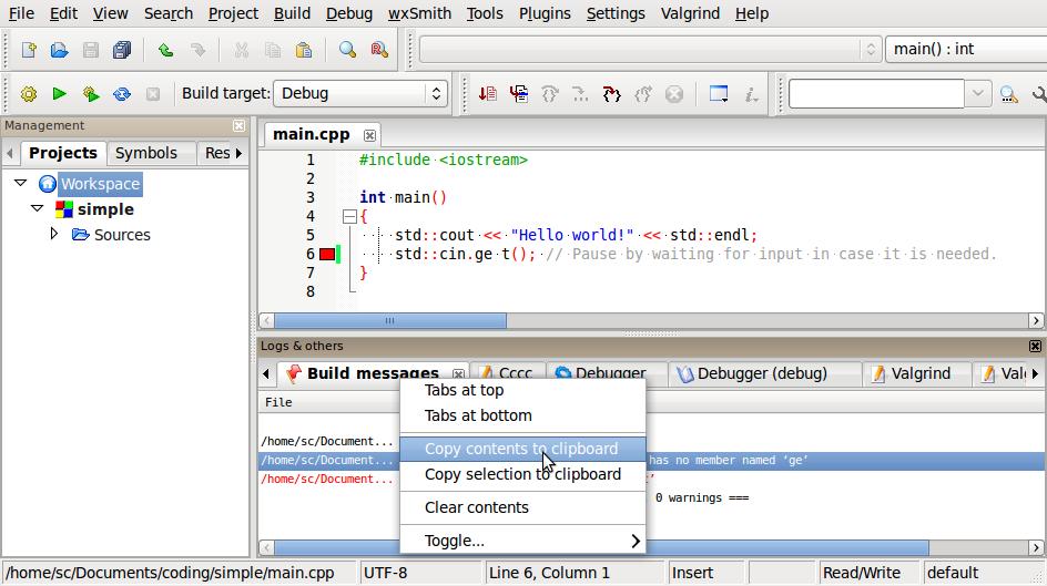 Name:  Screenshot-main.cpp [simple] - Code::Blocks 10.05.png Views: 950 Size:  86.1 KB